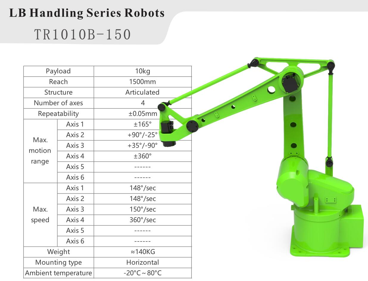 10kg Payload 4 Axis Industrial Robot